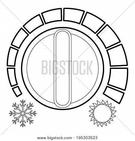 Cold heat regulator icon. Outline illustration of cold heat regulator vector icon for web design