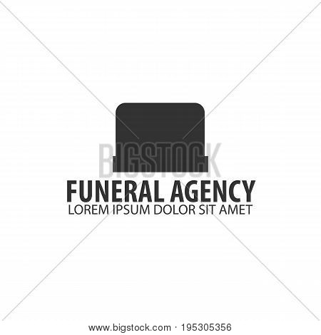 Funeral home undertaking ceremonial service. Funeral agency. Vector logo and emblem