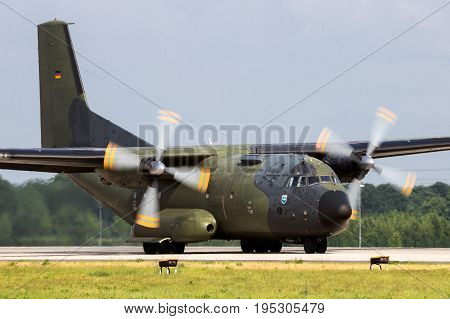 Military C160 Transall Cargo Aircraft
