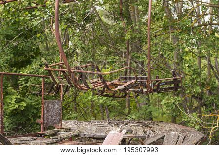 Chernobyl Exclusion Zone: Abandoned Carousel in Ghost City of Pripyat
