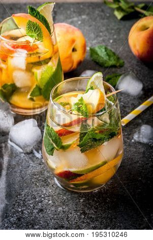 Peach Mojito With Lime