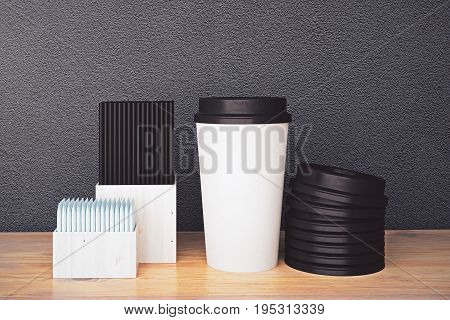 White Coffee Cup And Other Items