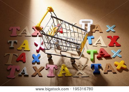 shopping surrounded by lot of tax