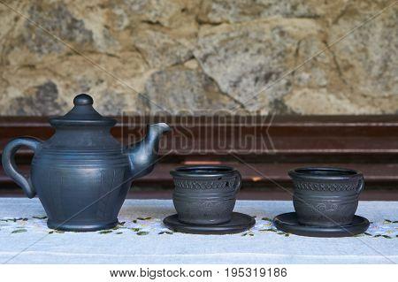 Three Tea Ceramic Containers