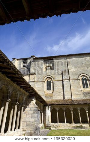 Medieval French Cloisters at the Collegiale church of Saint Emilion, France