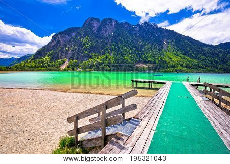 Achen Lake Turquoise Water And Alps Mountains View