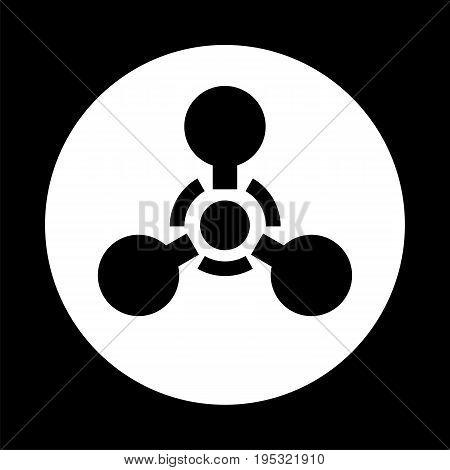 Chemical weapon sign. Vector illustration d d