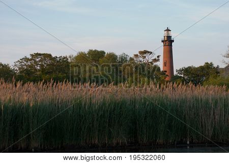 View of Currituck Lighthouse in Currituck, North Carolina Outer Banks
