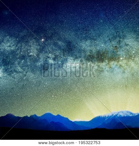 background image of abstract universe lights.