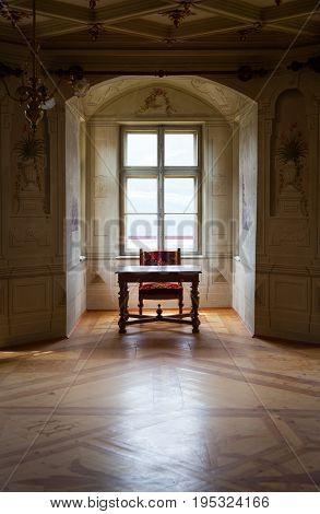 Gressoney, Italy - January 6Th: Interior Of Castle Savoia