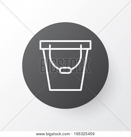 Bucket Icon Symbol. Premium Quality Isolated Pail Element In Trendy Style.