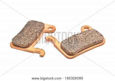 bicycle brake pads isolated on white background