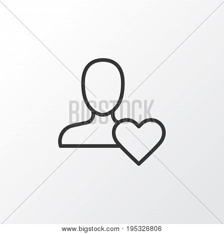 Best Icon Symbol. Premium Quality Isolated Favorite Person Element In Trendy Style.