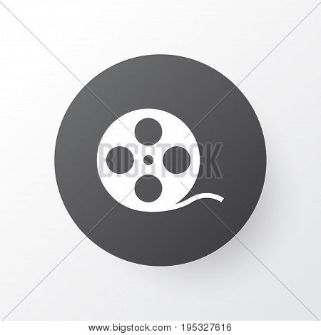 Film Reel Icon Symbol. Premium Quality Isolated Filmstrip Element In Trendy Style.