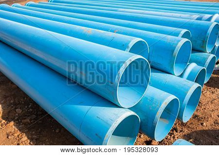 Construction Blue Pipes