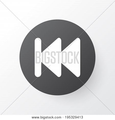 Previous Icon Symbol. Premium Quality Isolated Rewind Element In Trendy Style.