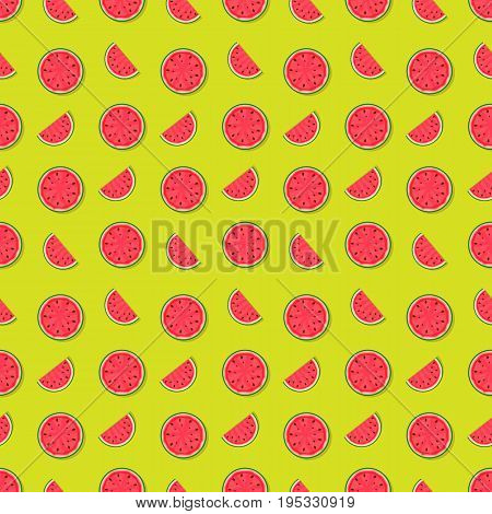 Seamless Pattern Background from Watermelon. Vector Illustration. EPS10