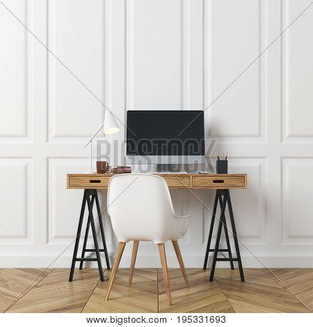 Rectangular Pattern Room, Computer Desk