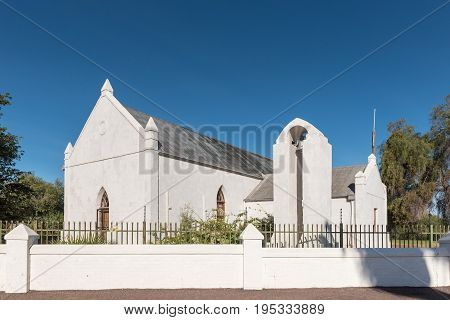 UPINGTON SOUTH AFRICA - JUNE 11 2017: The Kalahari-Oranje Museum is housed in the buildings built by the Reverend Schröder in 1875 as a church and mission station