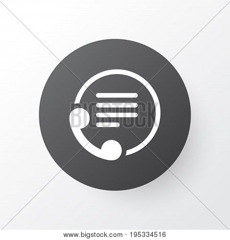 Contact Info Icon Symbol. Premium Quality Isolated Telephone Element In Trendy Style.