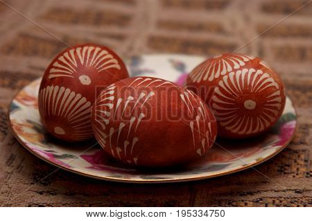 Polish  handpainted easter tradicional eggs, podlasie, Poland