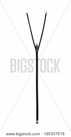 Zipper Isolated On White. Background, Clipping Part