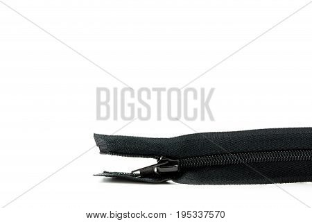 Zipper Isolated On White Background