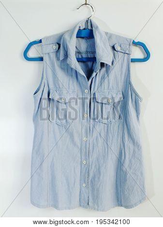 Summer Sleeveless Hanger Isolated On White Background