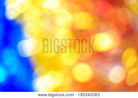Defocused Blurry Focus Lighting Golden Yellow Effects Background