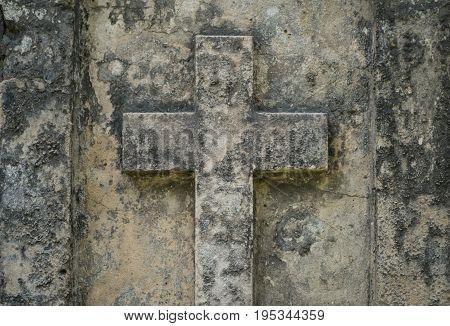 Stone Cross On Gravestone - Christian Cross On Grave