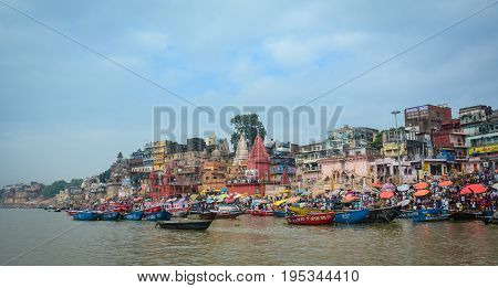 Riverbank Of Ganges In Varanasi, India