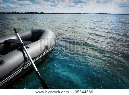 Inflatable Boat With A Motor