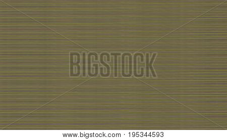 Abstract texture set of bright horizontal narrow lines of rays of green yellow on a brown background