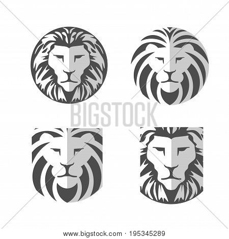 Elegant lion head logo concept suitable for all kind business accounting legal management sport security etc