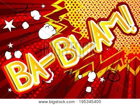 Ba-Blam! - Vector illustrated comic book style expression.