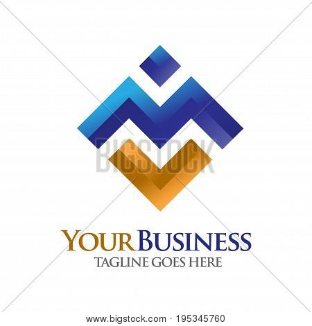 elegan letter M logo, letter MV logo, elegant  concept for Alphabetical Logo Design Concepts. Letter M