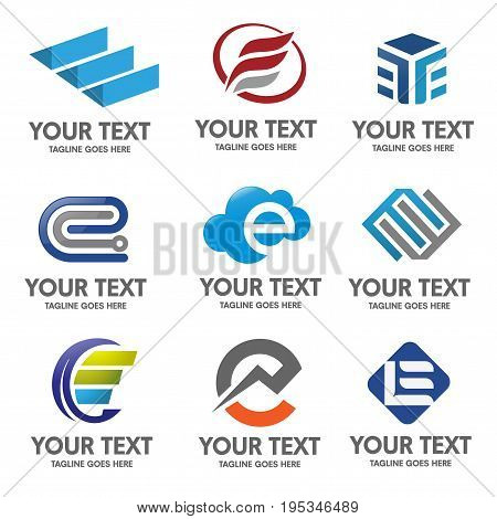 Elegant Letter E Logo Vector Photo Free Trial Bigstock