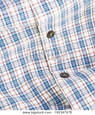 blue and white checked pattern style of shirt