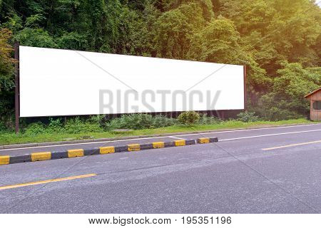 Blank Billboard Ready For New Advertisement At Green Park Zone