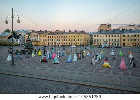 Senate Square, In Helsinki