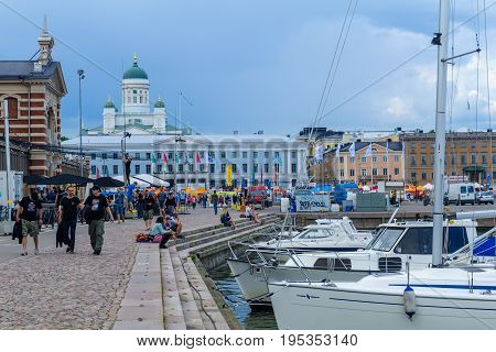 South Harbor, Market, City Hall, Lutheran Cathedral, In Helsinki