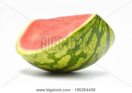melon on white background photo close up
