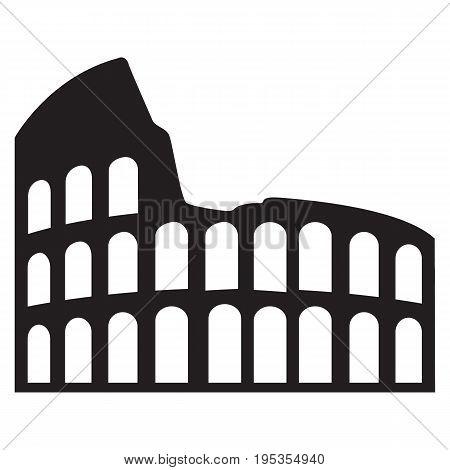 Coliseum vector rome  italy cut out italy roman