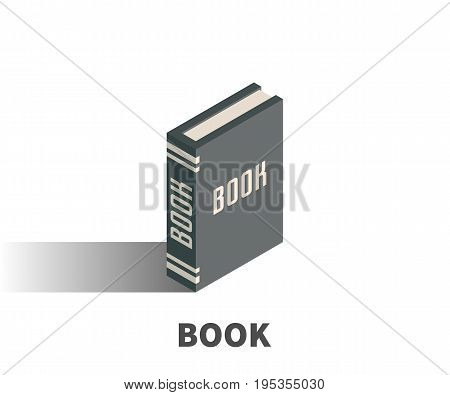 Book icon vector symbol in isometric 3D style isolated on white background.