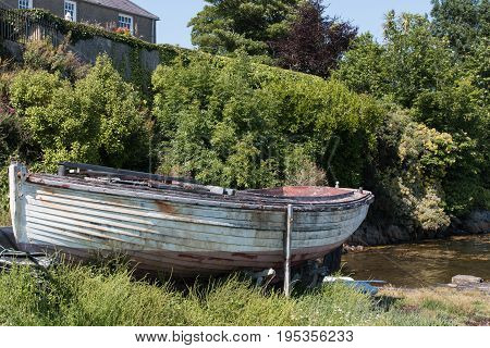 Old boat in Strangford, County Down, Northern Ireland