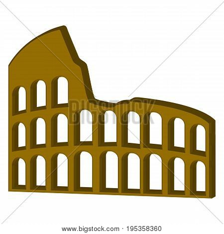 Coliseum Icon abstract ancient arch awe building exterior