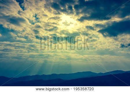 Nature Background. The Perfect Mountain Range Combination Of Natural Beauty.