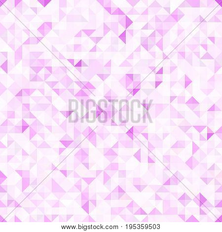 Seamless light pink pattern of small triangles. Background for the design of the surface. Abstract geometric wallpaper.