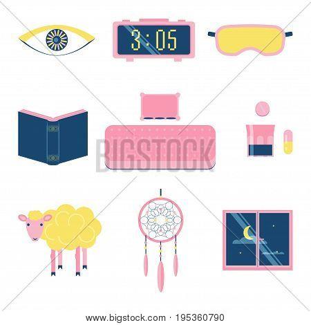 Sleep Flat Icon Set