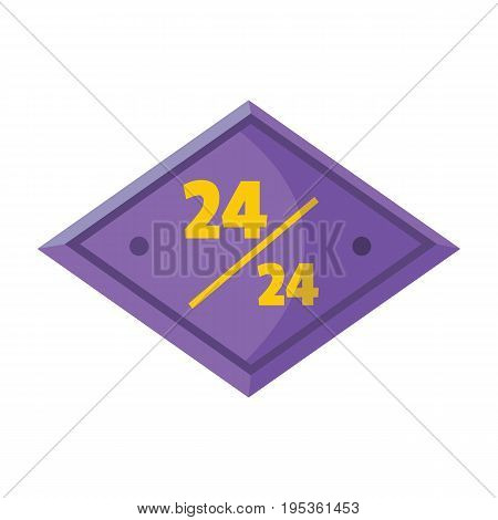Plastic signboard with text for working hours design vector illustration isolated on white background plasticsign for city advertising